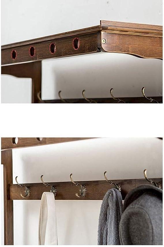Banco de zapatos 3-en-1 de bambú Puerta de entrada de ropa Escudo ...