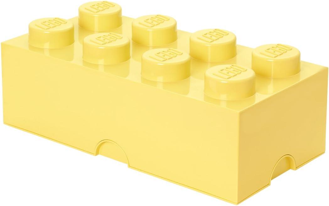 LEGO Cool Yellow Storage Box Brick 8 DIF, Large