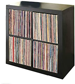 Music Loyal Storage Bin Cabinet Organizer 3 Cube Vinyl Record Shelf Lp Crate Vintage Shelves