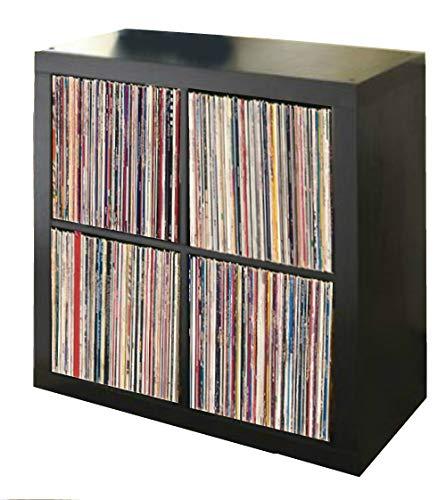 Vinyl Record Storage Shelf   LP Record Album Storage   Vinyl Record Storage Cube, Rack, Cabinet, Bookcase, Organizer for Vintage LP Records   4 Cube Square Organizer by VRSS (Espresso) (For Furniture Records)