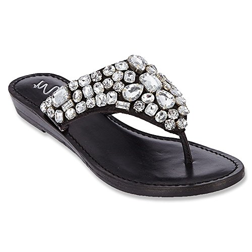 Matisse Ozzie Women US 7 Black Thong Sandal Matisse Leather Thongs