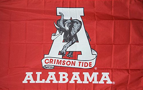 College 2 Sided Banner Flags - NEOPlex 3' x 5' College Flag - Alabama Crimson Tide
