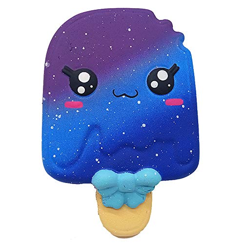 Ulanda Soft Suqishy Ice Cream Scented Galaxy Squishies Slow Rising Squeeze Toys Stress Relief Toy for Kids Adults (Galaxy Ice Cream -