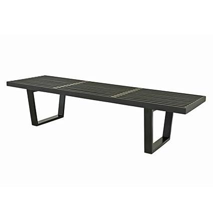 72 inch dining bench upholstered fine mod imports wood bench 72inch black amazoncom black kitchen