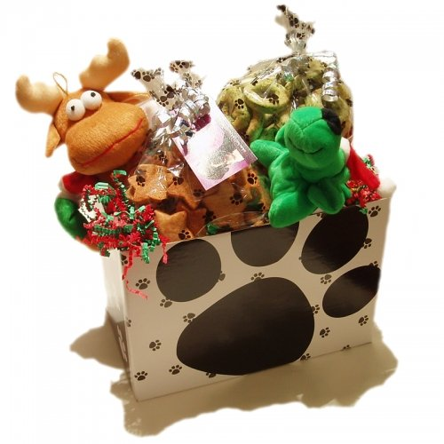 Holiday Gift Basket, Peanut Butter Bones and Good Dog Ginger Stars