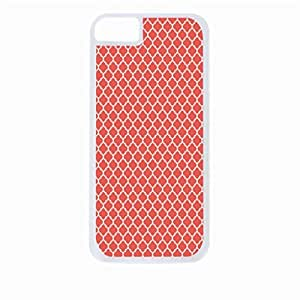 Coral Lattice Pattern- Hard White Plastic Snap - On Case-Apple Iphone 6 Only - Great Quality!