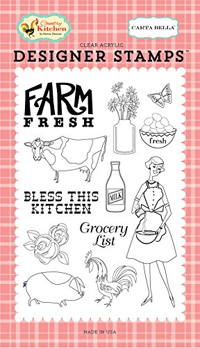 Carta Bella Paper Company Farm Fresh 4X6 Stamp (Belle Farms)