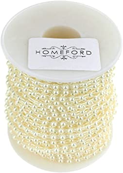 Pearls on a string 24 yards 4mm ivory