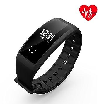 UWATCH - Muñequera para Fitness, pulsómetro, Reloj Impermeable, rastreador GPS, Actividad, vigilancia, SMS, Llamada para, Negro 2: Amazon.es: Deportes y ...