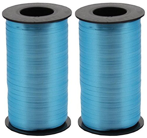 - 2-Pack Bundle - Berwick Splendorette Crimped Curling Ribbon, 3/16-Inch Wide by 500-Yard Spools, Turquoise