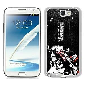 Samsung Galaxy Note 2 N7100 als music pantera music dimebag White Screen Phone Case Popular and Charming Design