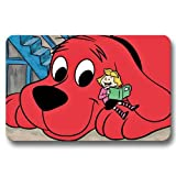 DIY House Gate Foot Pad Clifford the Big Red Dog Non Slip Door Mat 16x24Inch / 40x60cm