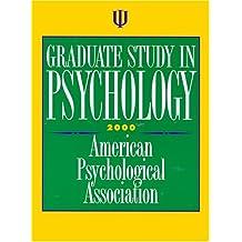 Graduate Study in Psychology 2000