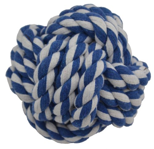 Amazing Pet Products Rope Dog Toy, 3.75-Inch Rope Ball, Blue by Amazing Pet Products
