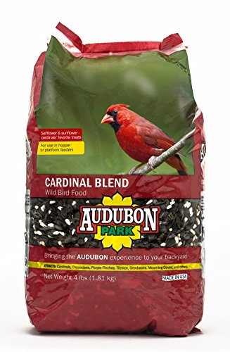 Aududon Park 12231 Cardinal Blend Wild Bird Food, 4-Pounds - Make Platform Bird Feeder