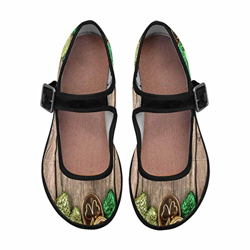 InterestPrint Womens Comfort Mary Jane Flats Casual Walking Shoes Multi 10 aS7jvgQ3It