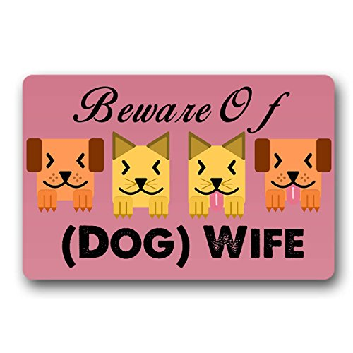 Artsbaba Doormat Welcome Beware Of Wife Dog Is Also Shady