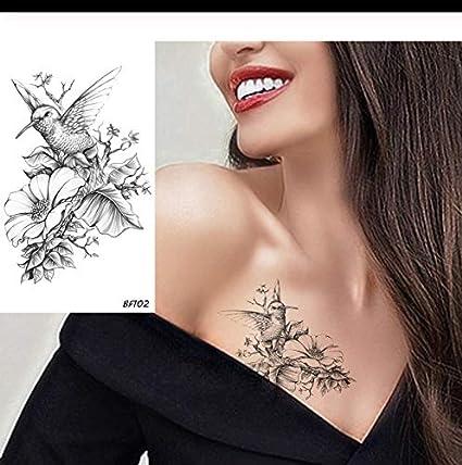 LFVGUIOP Lápiz 3D Sketch Humminbirds Floral Tatuajes Pegatinas ...