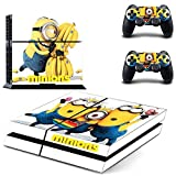 Lucky Store New Despicable Me Minions PS4 Skins Decals For Sony PS4 and 2 Controllers Skins Stickers Skin Covers