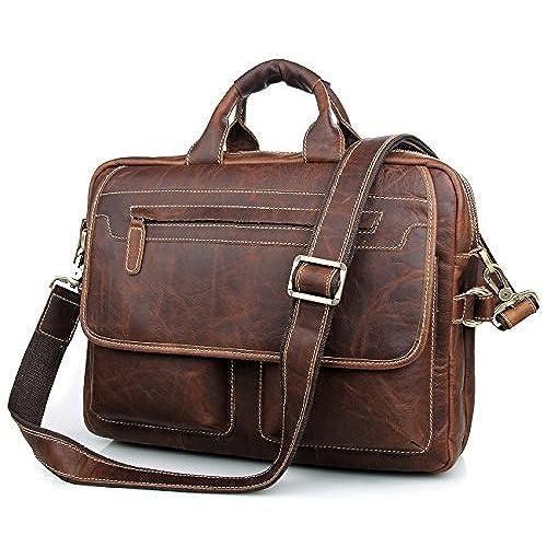 1cd9ce2b5d23 cheap Texbo Men s Vintage Cowhide Leather Briefcase Fit 15.6