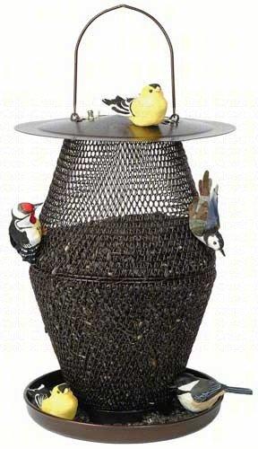 Bronze Lantern No/No set of 2 (Bronze No Feeder Mesh Bird)