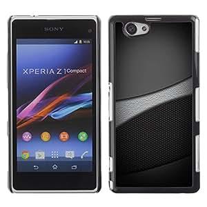 Be Good Phone Accessory // Dura Cáscara cubierta Protectora Caso Carcasa Funda de Protección para Sony Xperia Z1 Compact D5503 // Grayscale Tones