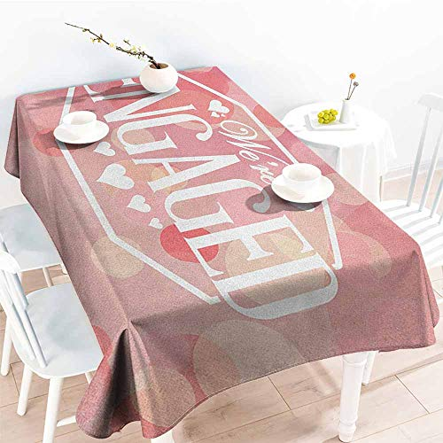 EwaskyOnline Resistant Table Cover,Engagement Party Engagement Party Cards