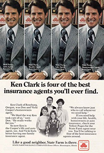 1978 State Farm Insurance  Ken Clark  State Farm Insurance Print Ad