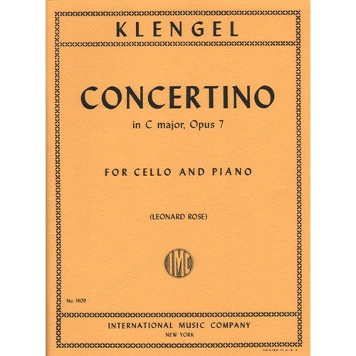 Klengel Julius Concertino No1 in...
