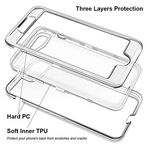 Anuck Case for iPhone 8 Plus Case, for iPhone 7 Plus Case 5.5 inch, Crystal Clear 3 in 1 Heavy Duty Defender Shockproof…