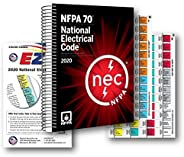 NFPA National Electrical Code (NEC) Spiralbound, with Color Coded EZ Tabs and Formula Guide 2020 Editions
