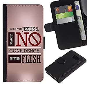 All Phone Most Case / Oferta Especial Cáscara Funda de cuero Monedero Cubierta de proteccion Caso / Wallet Case for Sony Xperia Z3 Compact // BIBLE Delight In Jesus