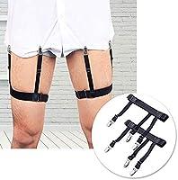 2pcs Mens Stays Holders Elastic Shirt Garter Non-Slip Locking Clamps Uniform