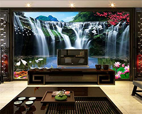 ShAH 3D Wallpaper Mural Floor Sticker Hd Natural Waterfall Landscape Living Room Bedroom Tv Background 3D Wallpaper Mural Floor Sticker Wall 3D 150cmX100cm