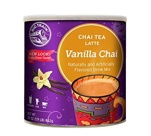 Big Train Chai Tea, Vanilla, 1.9 Pound, Powdered Instant Chai Tea Latte Mix, Spiced Black Tea with Milk, For Home, Café, Coffee Shop, Restaurant Use