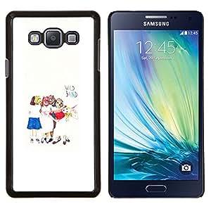 LECELL--Funda protectora / Cubierta / Piel For Samsung Galaxy A7 A7000 -- Arte para niños Blanco Minimalista --