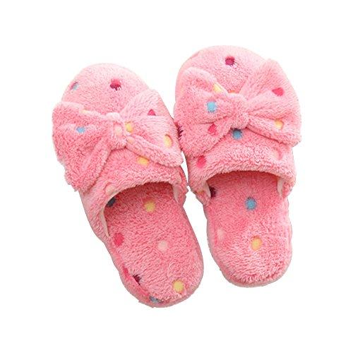 Calientes Inicio Dot nudo Rosa Big Zapatos Interior Eastlion Zapatilla Zapatillas Hombres Bow Mujeres WqYHwpzpF