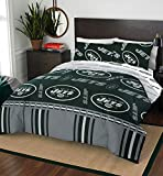 """NFL New York Jets """"Rotary"""" Queen Bed In a Bag"""