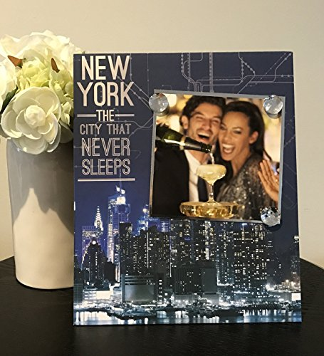 New York The City That Never Sleeps - NYC Bachelorette Party Bridal Shower Girls Fun Night Out Handmade Gift Present Home Decor Magnetic Picture Frame Size 9 x 11 Holds - Nyc Broadway 9