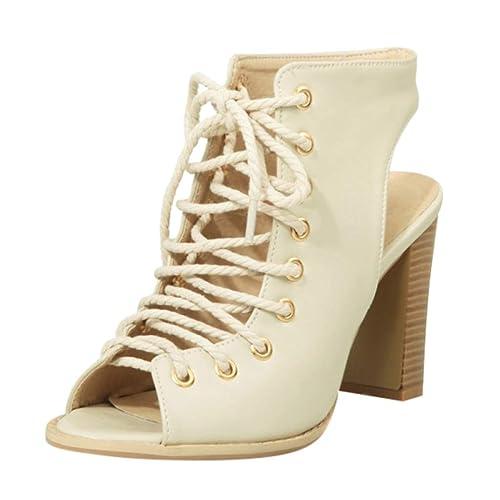 Sandalias Tacon Para Con Romanas Mujer Zapatos Alto cFlKuT1J3