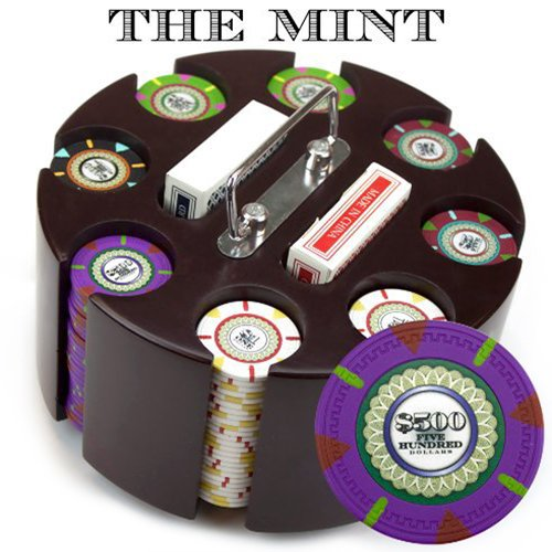 Claysmith Gaming 200-Count 'The Mint' Poker Chip Set in Carousel, 13.5gm ()