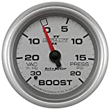 Auto Meter 7701 Ultra-Lite Pro II 2-5/8'' 30 in. Hg/20 PSI Mechanical Vacuum/Boost Gauge
