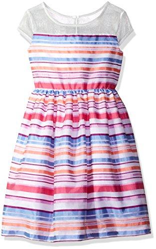 Gymboree Big Girls Organza Stripe Dress  Multi  6