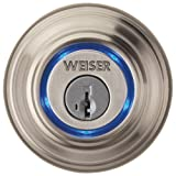 WEISER Kevo - Bluetooth Enabled Deadbolt Lock (GED1500) for iPhone 4S and 5 (Satin Nickel)