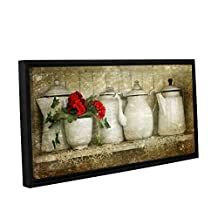 ArtWall Antonio Raggio's Flower with Pots, Gallery Wrapped Floater-framed Canvas 24X48