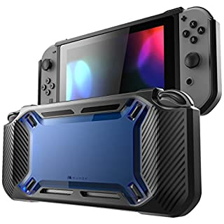 Mumba case for Nintendo Switch, [Heavy Duty] Slim Rubberized [Snap on] Hard Case Cover for Nintendo Switch 2017 Release (Blue)