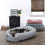 24 inch Grey Links Sherpa Bagel Dog Bed