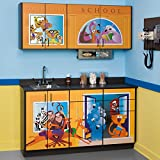 Pediatric Equipment - Fun Series - Schoolhouse Cabinets with Stainless Steel Sink - CL-6120-BW; 022