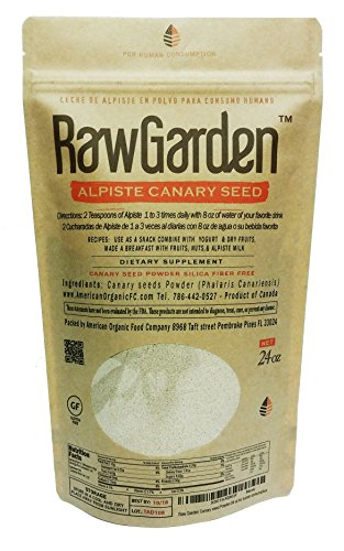 (Raw Garden Canary seed Powder,Alpiste en Polvo, (Silica Fiber Free) Leche de alpiste 24 oz for human consumption.)