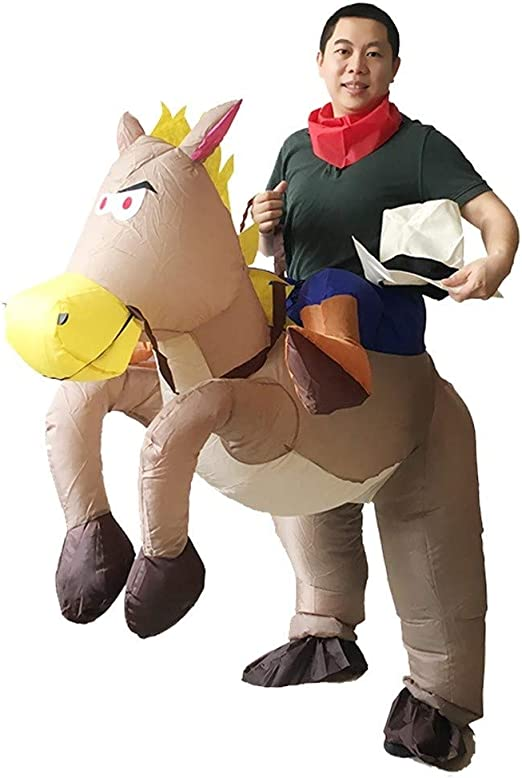 LEZDPP Traje Vaquero Inflable Fiesta de Halloween Occidental ...
